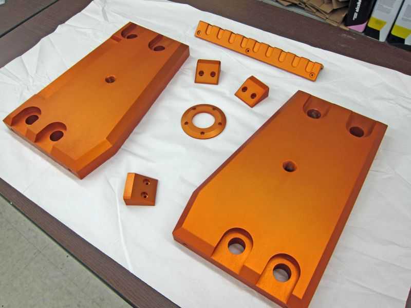 Side Plates with Orange Anodize